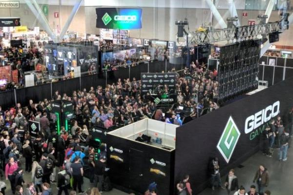 GEICO Gaming booth at 2018 PAX East