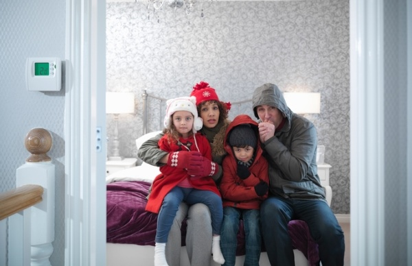 Family of 4 in cold house