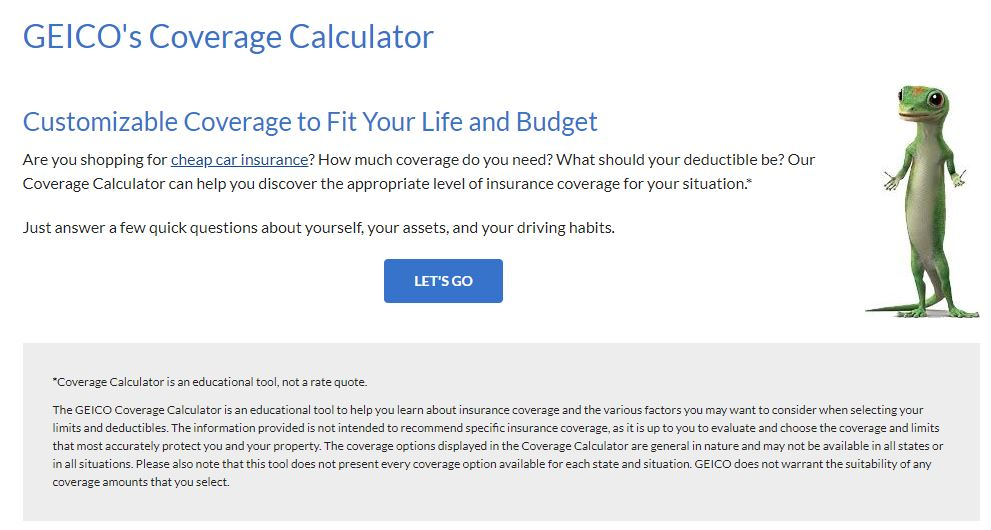 geico coverage calculator
