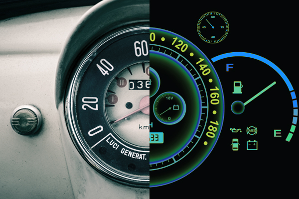 dashboard old vs. new