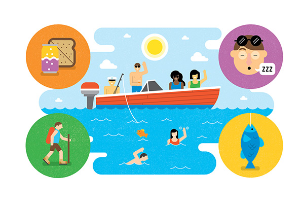 boating illustration