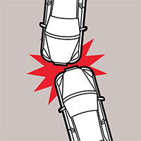 front-impact collision