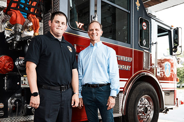 Firefighter Keith Paradiso and John Suchorsky