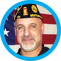 Jeff Hamilton, the American Legion Post 104 Commander
