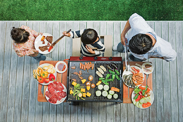 outdoor grilling party