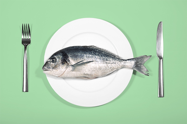 fish on dinner plate