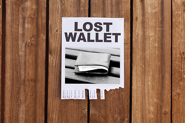 lost wallet flier
