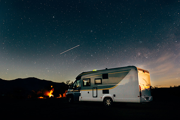 RV at night