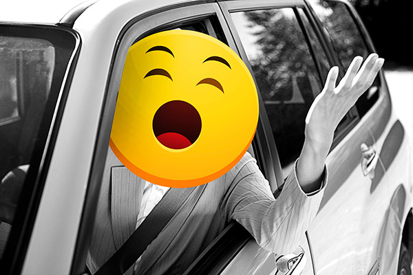 exasperated emoji driver