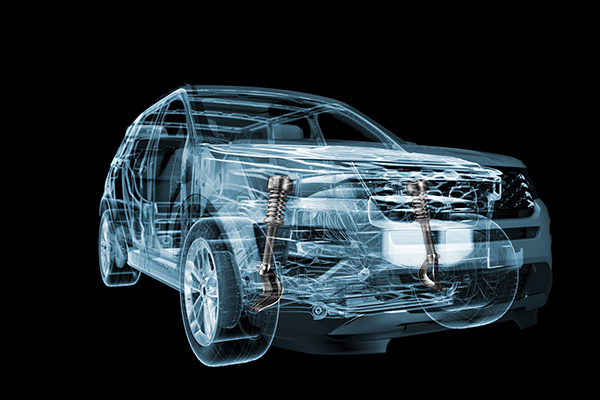 3D X-ray view of SUV