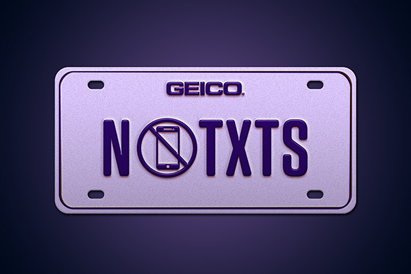 vanity license plate NOTXTS