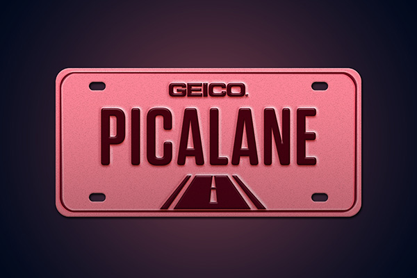 vanity license plate PICALANE