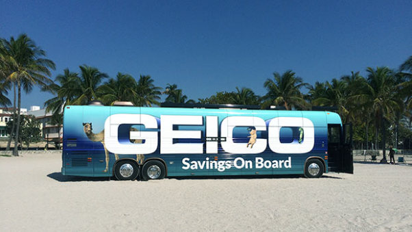 The GEICO event tour bus