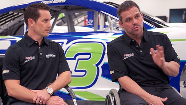 Casey Mears and Bootie Barker