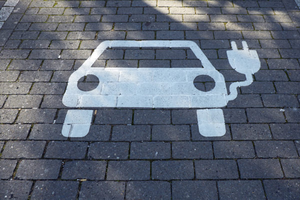 Car park for electric vehicle, electric vehicle charging station