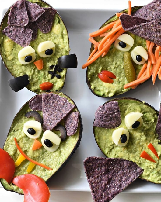 This is Guacamonsters, Halloween special veg and healthy food in a bowl. It is yummy.