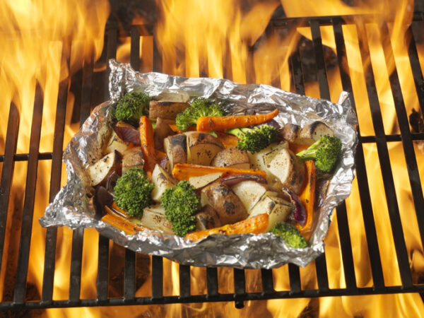 Cooked Vegetables on the BBQ Grill -Photographed on Hasselblad H3D-39mb Camera