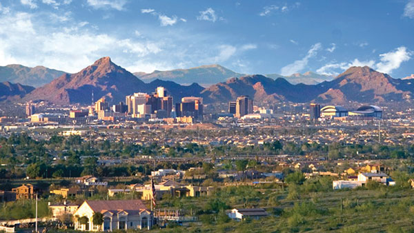 Scenic view of downtown Phoenix