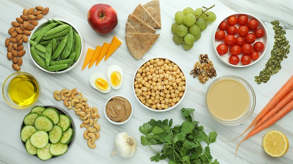 ingredients for protein snack boxes