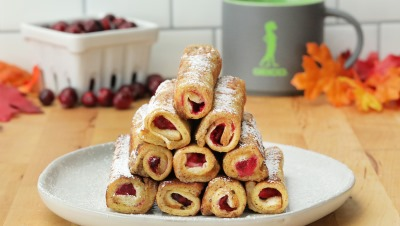 Cranberry French Toast Roll-Ups In 15 Minutes Or Less