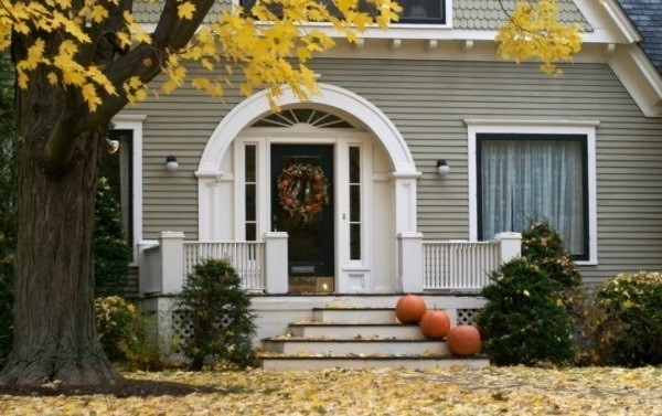 Decorated home entrance