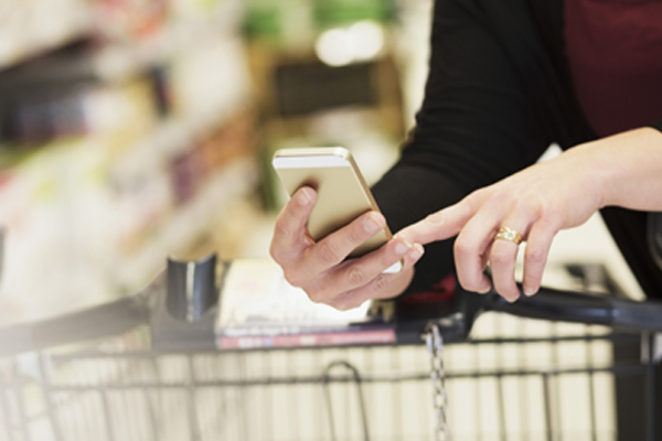 Grocery shopping smartphone list