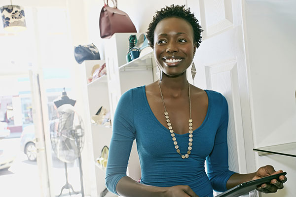 African-American female small business owner