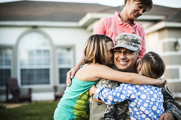 Military family homecoming