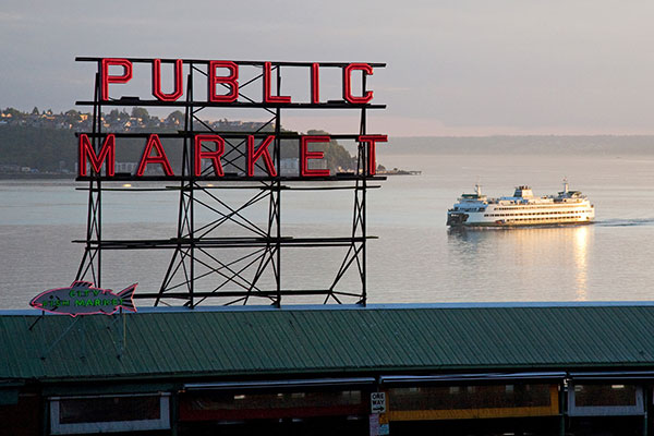 Seattle Public Market sign