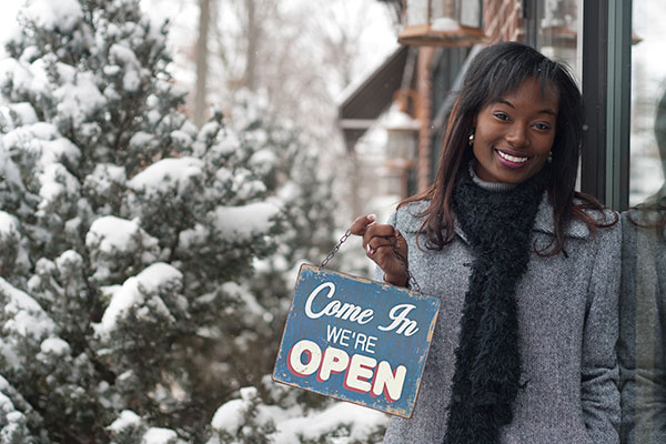 female african-american business owner