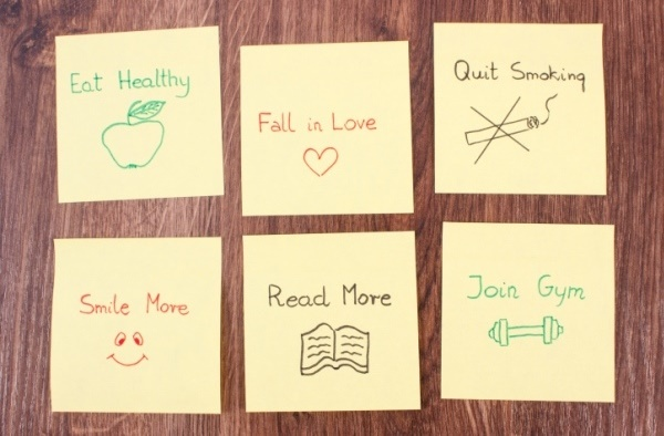 Resolutions sticky notes