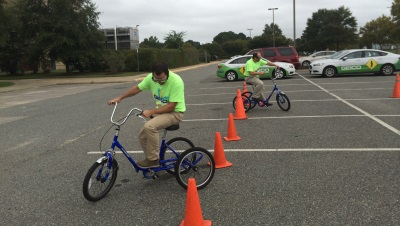 Drunk driving tricycle test