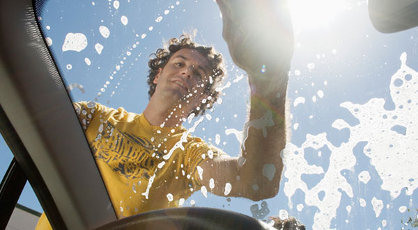 Washing a car with enviornmentally friendly cleaners