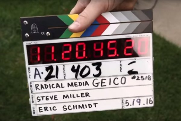 behind the scenes marker clapboard
