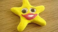 putty smiley face star