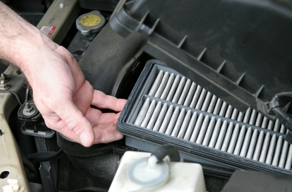 changing dirty air filter
