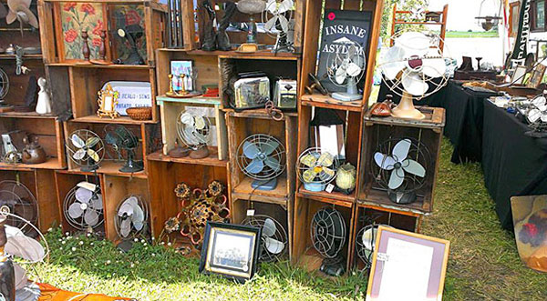 Longest Yard Sale - with antique fans