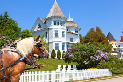 Mackinac Island West Bluff Victorian Cottage