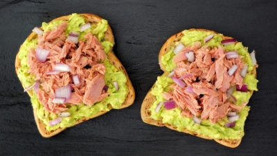 Open-faced Tuna and Avocado Sandwich