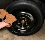 Tightening Lug Nuts on a car