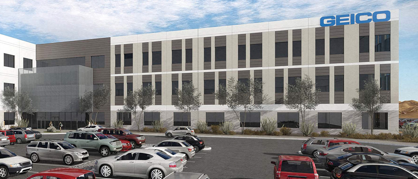 Rendering of GEICO's new Tucson regional office (Bourn Companies)