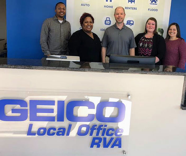 GEICO's south Richmond local office staff