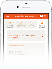 Image of Roadside Assistance on GEICO Mobile app