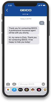 A smartphone using Apple Business Chat