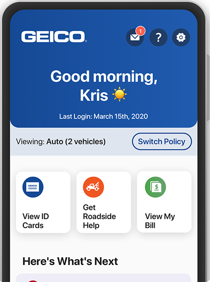 The GEICO Mobile app
