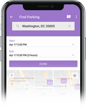 Find Parking view from the GEICO app
