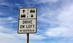 Drive On Left road sign