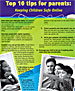 Cover of parent safety brochure
