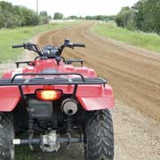 atv on dirt path