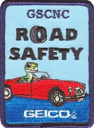 GEICO's DASHboard Road Safety Program patch